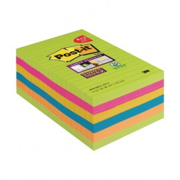 Post-it Notes Super Sticky XXL 101x152mm Ultra Colours [Pack of 6]