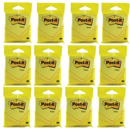 3M Post-It Note 76mmx76mm Yellow [Pack of 12]