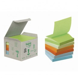Post-It Recycled Z-Notes 76x76 Rainbow [Pack of 6]