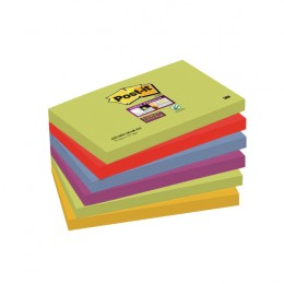 Post-it Super Sticky 76x127mm Marrakeh [Pack of 6]