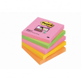 3M Post-It Super Sticky Notes 76x76mm Neon Rainbow