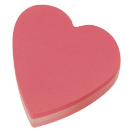 Post-It Cube Heart Pink [Pack of 12]