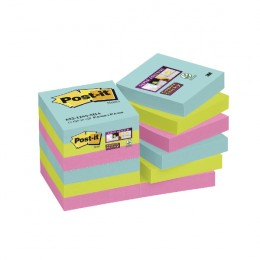 Post-It Super Sticky Notes Miami 47.6x47.6mm [Pack of 12]