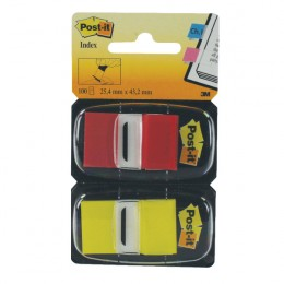 Post-It Index 25mm Red and Yellow Dual Pack