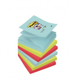 Post-It Super Sticky Z-Notes Miami 76x76mm [Pack of 6]
