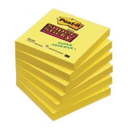 3M Post-It Super Sticky Notes 76x76mm Yellow
