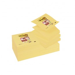 Post-It Super Sticky Z-Notes Yellow [Pack of 12]