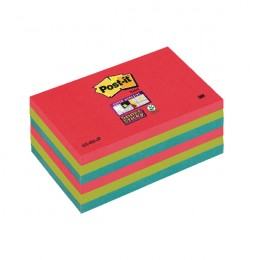 Post-It Super Sticky Notes Jewel Pop 76x127mm Assorted [Pack of 6]
