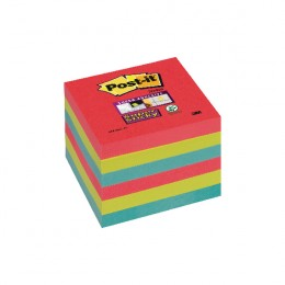 Post-It Super Sticky Notes Jewel Pop 76x76mm Assorted [Pack of 6]