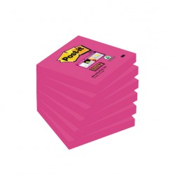 Post-it Super Sticky Notes 76x76mm Fuchsia [Pack of 6]
