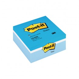 Post-it Notes Blue Colour Cube 76x76mm