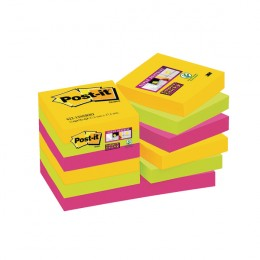 Post-it Super Sticky 47.6x47.6mm Rio Notes [Pack of 12]