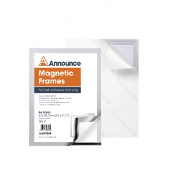 Announce Magnetic Frames A4 Silver [Pack of 2]