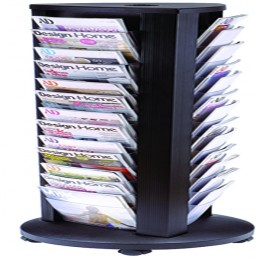 Alba A4 Rotary 39 Compartment Mobile Display Unit Carousel