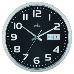 Acctim Supervisor Wall Clock Black