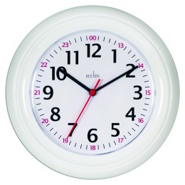 Acctim Wexham 24 Hour Wall Clock White