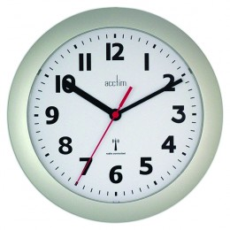 Acctim Parona Radio Controlled Wall Clock Silver