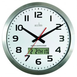 Acctim Meridian Radio Controlled Wall Clock Aluminium