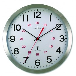 Acctim Century Radio Controlled Aluminium Wall Clock