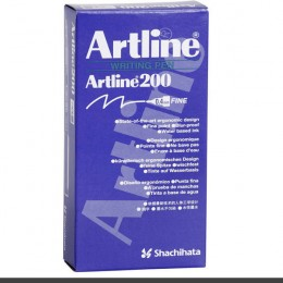 Artline Fineliner 200 Pen Black [Pack of 12]