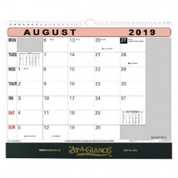 At-a-Glance Flip Over Wall Calendar 2019
