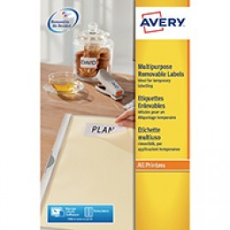 Avery Removable Laser Labels 8/Sheet 96x63.5mm L4745REV-25 [25 Sheets]