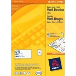 Avery 3667 Multi-Function Labels 65/Sheet White [Pack of 40]