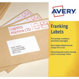 Avery 157x39mm White Franking Label