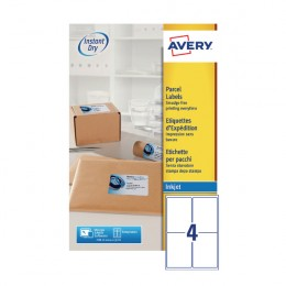 Avery Inkjet Labels 4/Sheet 139x99.1mm J8169-25 [25 Sheets]
