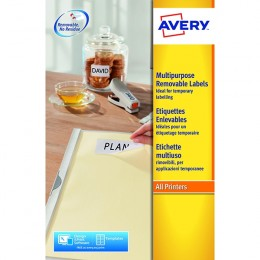 Avery Removable Laser Labels 48/Sheet 45.7x21.2mm L4736REV-25 [25 Sheets]