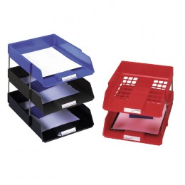 Avery Desktop Wide Entry Tray Set Black