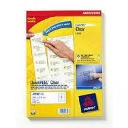 Avery Clear Inkjet Labels 8/Sheet 99.1x67.7mm J8565-25 [25 Sheets]