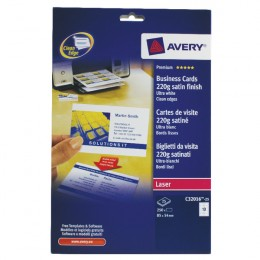 Avery Quick and Clean Business Cards 220g 10/Sheet White [25 Sheets]