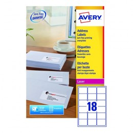 Avery Laser Labels L7161-500 18/Sheet [Pack of 500 Sheets]