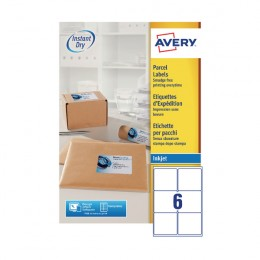 Avery Inkjet Address Labels 6/Sheet White 99.1x93.1mm J8166 [Pack of 100]