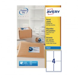 Avery Inkjet Address Labels 4/Sheet White 139x99.1mm J8169-100 [Pack of 100]