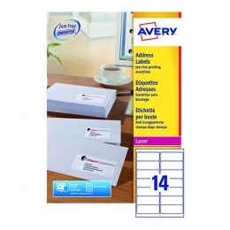 Avery Laser Labels L7163-250 14/Sheet [Pack of 250 Sheets]