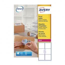 Avery BlockOut Laser Labels 6/Sheet 99.1x93.1mm L7166-250 [250 Sheets]