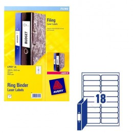 Avery Ring Binder Labels L7172 [25 Sheets]