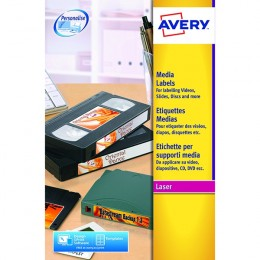 Avery Laser Labels 24/Sheet 72x21.1mm L7665 [25 Sheets]