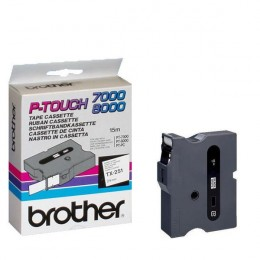 Brother P-Touch Tape TX251 24mm Black on White
