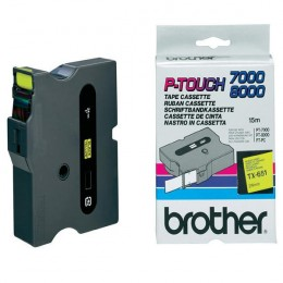 Brother P-Touch Tape TX651 24mm Black on Yellow