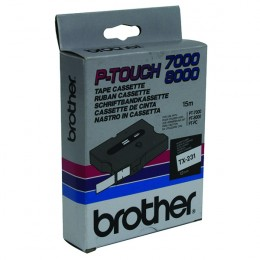 Brother P-Touch Tape TX231 12mm Black on White