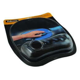 Fellowes Crystal Mousepad and Wrist Rest Black