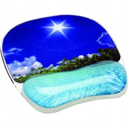 Fellowes Photo Gel Mousepad Wrist Support Beach Design