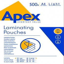 Fellowes Apex A4 Laminating Pouch Light Duty [Pack of 500]