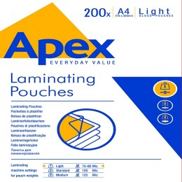 Fellowes Apex A4 Laminating Pouch Light Duty [Pack of 200]