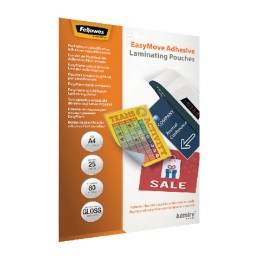 Fellowes Easymove Adhesive Pouch A4 [Pack of 25]