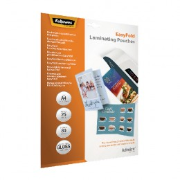 Fellowes Easyfold Laminate Pouch A4 [Pack of 25]
