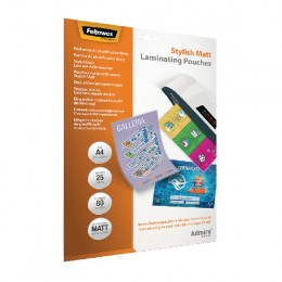 Fellowes Stylish Matt Laminating Pouch A4 [Pack of 25]